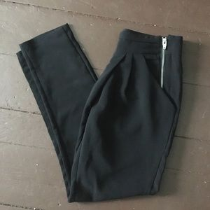 H&M black dress trousers with double zipper size 6
